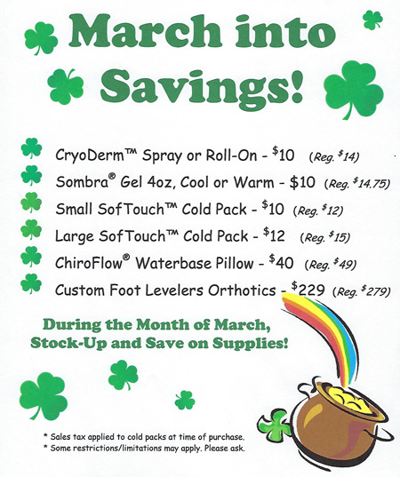 March Into Savings Specials At Pure Chiropractic and Wellness