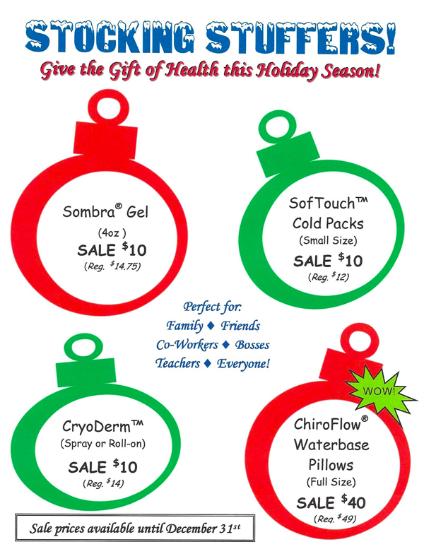 Stocking Stuffers at Pure Chiropractor and Wellness